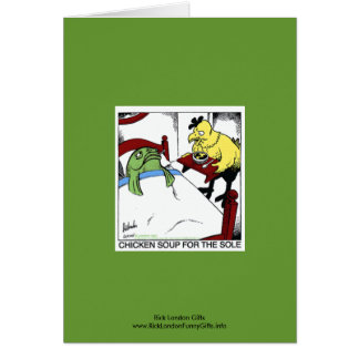 Chicken Soup 4 The Sole Cartoon Notecard Stationery Note Card