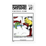 Chicken Soup 4 The Sole Cartoon Real U.S. Stamps