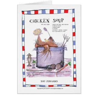 chicken soup recipe, tony fernandes card