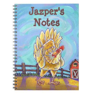Chicken Stationery Spiral Notebooks