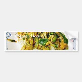 Chicken Stir Fry Bumper Sticker