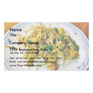 Chicken Stir Fry Double-Sided Standard Business Cards (Pack Of 100)