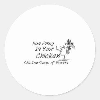 Chicken Swap of Florida Classic Round Sticker