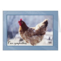 Chicken Sympathy Card