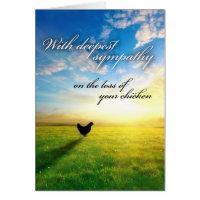 Chicken sympathy card