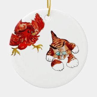 Chicken Tag - Run Kitty... Christmas Tree Ornament