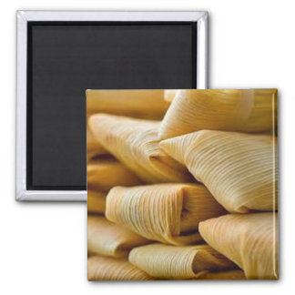 Chicken Tamales 2 Inch Square Magnet