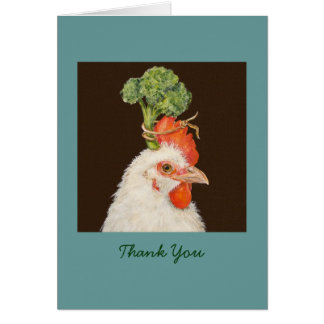 Chicken Thank you card