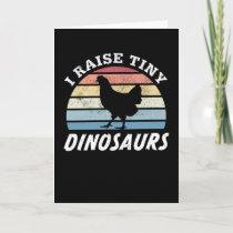 Chicken Tiny Dinosaurs Farming Gift Card