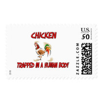 Chicken trapped in a human body postage