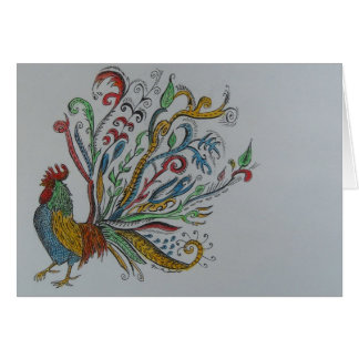 chicken tree greeting cards