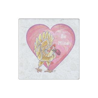 Chicken Valentine's Day Stone Magnet