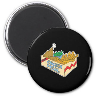 chicken value meal in a box 2 inch round magnet