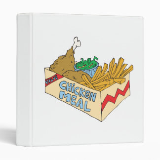 chicken value meal in a box 3 ring binder