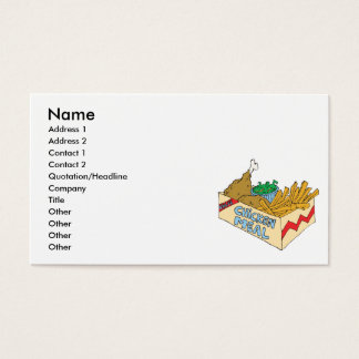 chicken value meal in a box business card