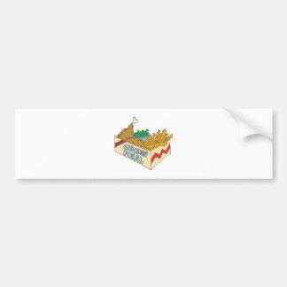 chicken value meal in a box car bumper sticker