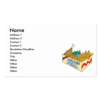chicken value meal in a box Double-Sided standard business cards (Pack of 100)