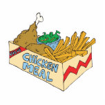 chicken value meal in a box photo cutout