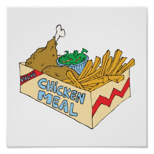 chicken value meal in a box poster