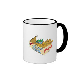 chicken value meal in a box ringer coffee mug