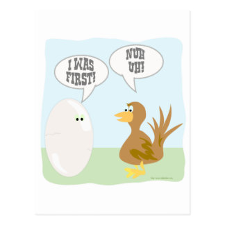 Chicken vs Egg Showdown! Postcard