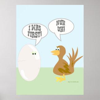 Chicken vs Egg The Poster! Poster