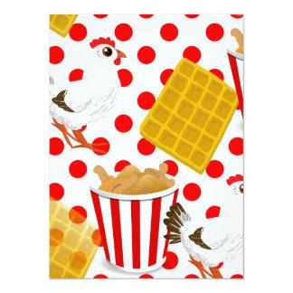 chicken waffles card