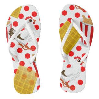 chicken waffles flip flops shoes sandals