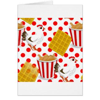 chicken waffles greeting card