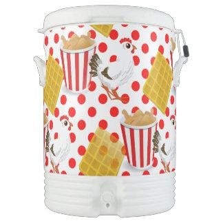chicken waffles igloo cooler igloo beverage dispenser