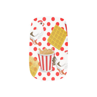 chicken waffles nail wraps