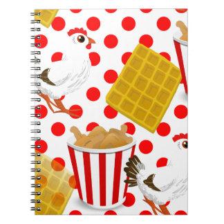 chicken waffles notebook