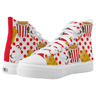 chicken waffles sneakers shoes printed shoes