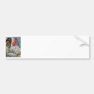 Chicken Walking Bumper Sticker