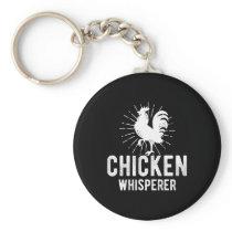 Chicken Whisperer Funny Farm Chicken Face Farming Keychain
