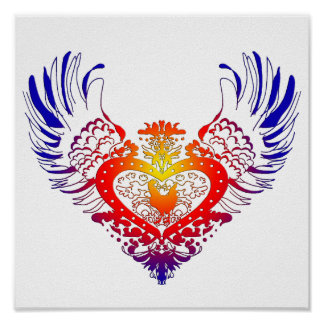 Chicken Winged Heart Poster