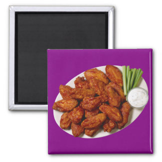 Chicken Wings 2 Inch Square Magnet