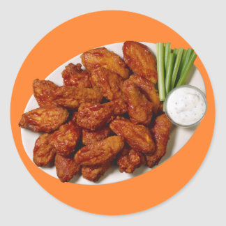Chicken Wings Classic Round Sticker