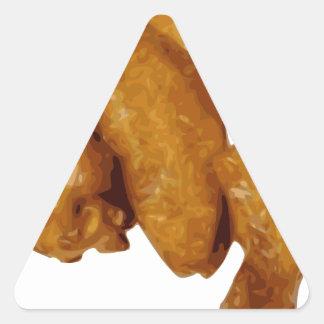 Chicken Wings Crispy Delicious Triangle Sticker