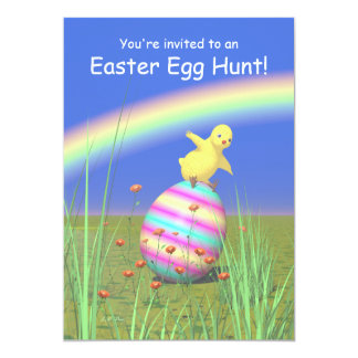 Chicken Wings Easter Egg Hunt Card