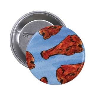 Chicken Wings Pinback Button