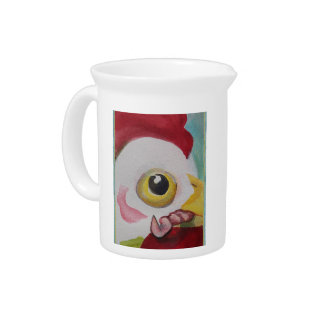 Chicken With A Worm Drink Pitcher