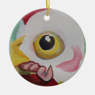 Chicken With A Worm Christmas Ornaments