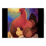 Chicken with Chick Farm Art - Multi Greeting Card