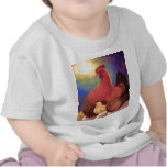 Chicken with Chick Farm Art - Multi Shirt
