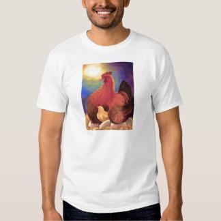 Chicken with Chick Farm Art - Multi Shirt