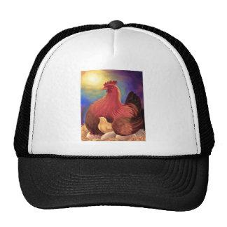 Chicken with Chick Farm Art - Multi Trucker Hat