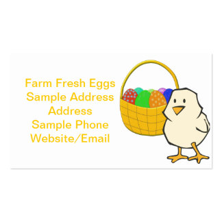 Chicken With Easter Basket Business Card Template