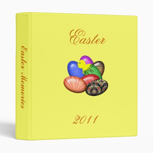 Chicken with Easter Eggs #1 Avery Binder