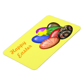 Chicken with Easter Eggs #1 Magnet